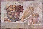 Nature morte du deuxième style. Fresque de la maison de Julia Felix, Pompéi