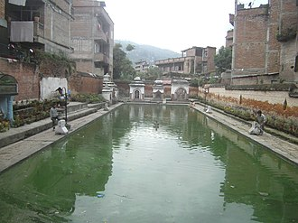 Banepa - Image: Pond banepa chandeswori marga west