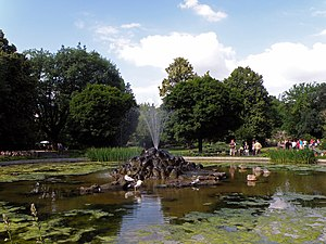 Warsaw Zoo - A pond at Warsaw Zoo