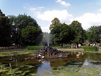 Warsaw Zoo - A pond at Warsaw Zoo
