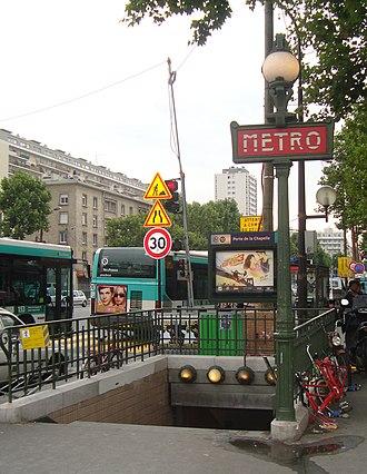 Porte de la Chapelle (Paris Métro) - Image: Porte Chapelle acces