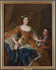 Portrait d'Augusta Marie Jeanne de Baden-Baden, duchesse d'Orléans