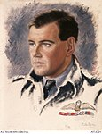 Portrait of Group Captain Hughie Idwal Edwards, VC, DSO, DFC, Bomber Command, 105 Squadron RAF.JPG