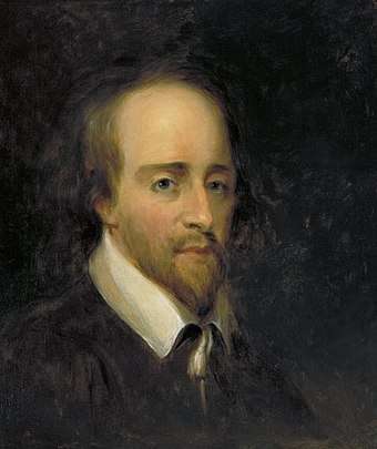 English writer and poet William Shakespeare Portrait of Shakespeare (Sully, 1864).jpg