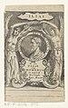 Portret van Homerus Ilias (titel op object) Titelpagina voor Homerus en Jan Hendrik Glazemaker, De iliaden van Homerus, eerste deel, 1658, RP-P-2016-802.jpg