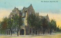 Postcard showing Holland apartment building, Danville, Illinois, USA circa 1911.png