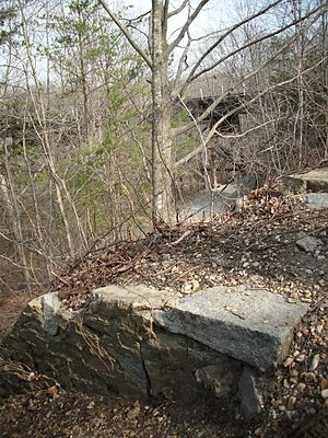 Potomac Creek Bridge - Image: Potomac Creek Bridge South Abutment