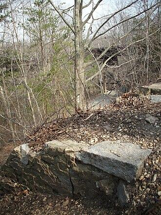 Potomac Creek Bridge - Image: Potomac Creek Bridge South Abutment