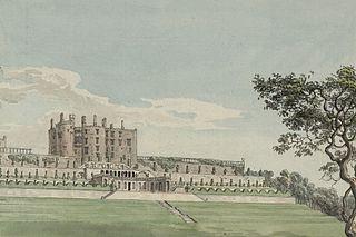 Powis Castle and gardens watercolour