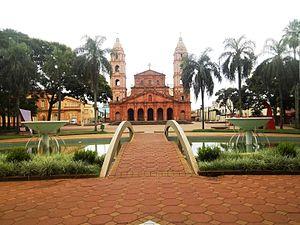 07fb569007f45 Vista da Praça Pinheiro Machado e da Catedral Angelopolitana