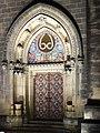 Praha, Vyšehrad, kostel svatého Petra a Pavla v noci, portál.JPG