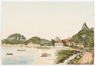 Praia de Botafogo com Dois Irmãos, Gávea e Corcovado ao fundo (atribuído)