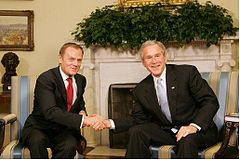 Premier Tusk and George Bush 2008.JPG