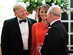 President Trump and First Lady Melania Trump at Winfield House (48008754373).jpg