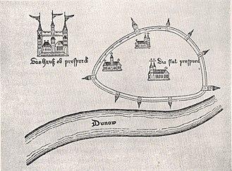 History of Bratislava - Pressburg city plan, 1438–55