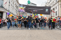 Pride in London 2016 - Starbucks in the parade as it passes Trafalgar Square.png