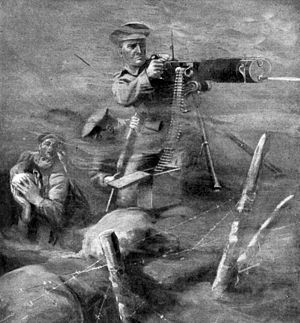 The War Illustrated - Image: Private John Lynn VC drawing