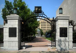 Professors Gate located on The George Washingt...