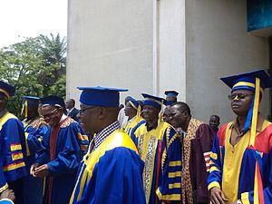 University of Kinshasa - Professors of the university in academic dress