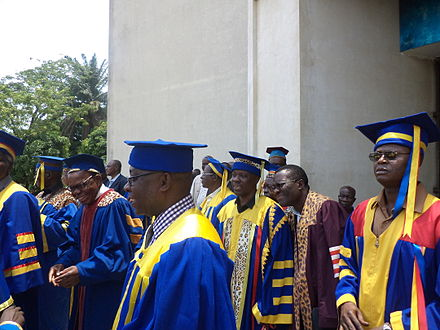 Professors of the University of Kinshasa in academic dress - Academic dress