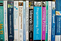 A selection of programming language textbooks ...