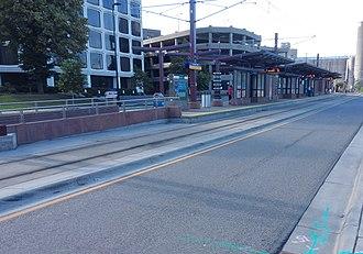 Prospect Park station (Metro Transit) - The station in 2015
