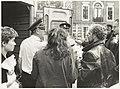 Protest tegen het gebruik van kernenergie. Foto bezetting van de kamer van de Commissaris van de Koningin, drs. R.J. de Wit in het Provinciehuis aan de Dreef. NL-HlmNHA 54020949.JPG
