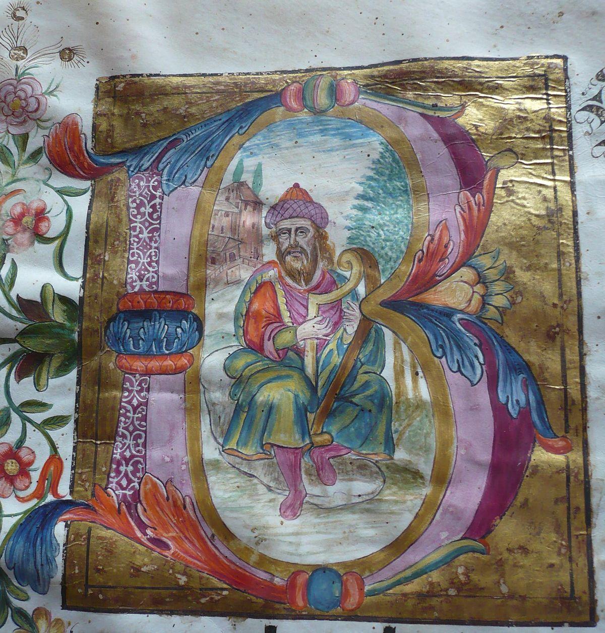 valued image set  biblioteca scarabelli  psalterium nocturnus  illuminated manuscript letters