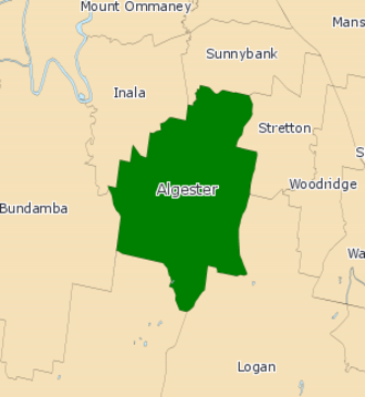 Electoral district of Algester - 2008 map