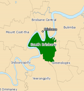 Electoral district of South Brisbane - Electoral map of South Brisbane 2008