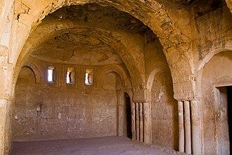 Qasr Al-Kharanah - Interior of Qasr Kharana, showing Sassanid influence