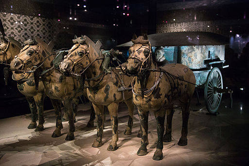 Qin bronze chariot two