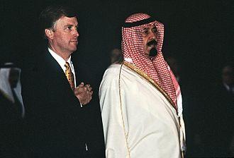 Abdullah of Saudi Arabia - Abdullah with US Vice President Dan Quayle