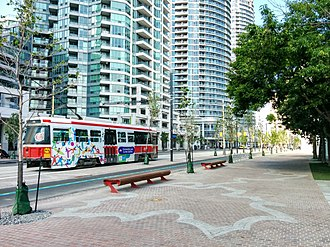 Queens Quay (Toronto) - Image: Queens Quay at Ann Tindal Park