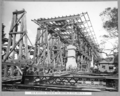 Queensland State Archives 3469 South approach falsework for erection of steel span No 5 Brisbane 20 April 1937.png