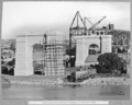 Queensland State Archives 4060 View across river showing progress on Kangaroo Point Brisbane 4 August 1938.png