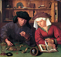 Le Changeur et sa femme   Quentin Massys 1514