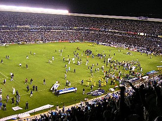 Querétaro F.C. - The club celebrating the 2008 promotion.