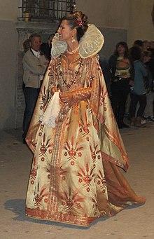 Federica Moro in costume alla Giostra della Quintana di Foligno (settembre 2012)