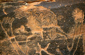 Rock art of south Oran (Algeria) - Image: R'cheg Dirhem.cl.1