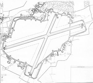 Hunsdon Airfield - Air Ministry Map of RAF Hunsdon