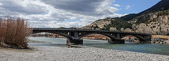 National Register of Historic Places listings in Park County, Montana - Image: RRA Carter Bridge Yellowstone River, Montana