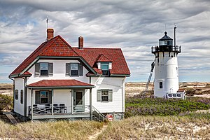Race Point Light - The lighthouse gets a fresh coat of paint in 2012