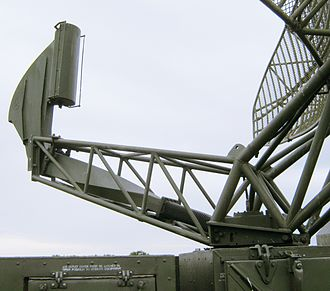 Waveguide - In this military radar, microwave radiation is transmitted between the source and the reflector by a waveguide. The figure suggests that microwaves leave the box in a circularly symmetric mode (allowing the antenna to rotate), then they are converted to a linear mode, and pass through a flexible stage. Their polarisation is then rotated in a twisted stage and finally they irradiate the parabolic antenna.