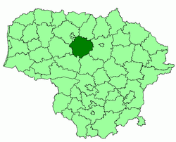 Location of Radviliškis district municipality within Lithuania