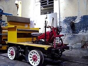 English: Railtrack maintenance vehicle of the ...