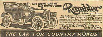 Rambler (automobile) - 1908 Rambler advertisement
