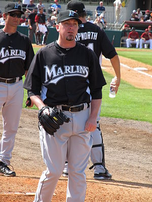 Randy Choate - Choate with the Marlins in spring training, 2011