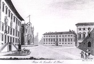 Knights' Square - Ranieri Grassi, View of Knights' Square (1834)