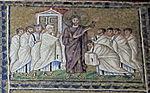 Ravenna, sant'apollinare nuovo, int., storie cristologiche, epoca di teodorico 06 incredulità di san tommaso.jpg